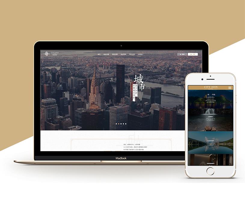 城迹酒店品牌网站建设