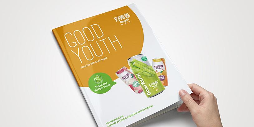 好青春果汁饮料产品画册设计